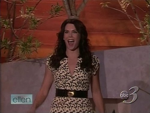 Did you see Lauren Graham on Ellen the other day?